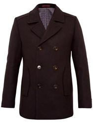 Ted Baker Biza Wool Blend Peacoat Red