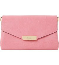 Dune Exie Textured Clutch Bag Pink Plain Synthetic
