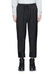 3.1 Phillip Lim Quilted Cropped Wool Jogging Pants Black