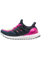 Adidas Performance Ultra Boost Cushioned Running Shoes Night Navy Pink Dark Blue