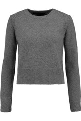 Marc By Marc Jacobs Ivy Wool Cashmere And Angora Blend Sweater Gray