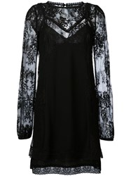 Mcq By Alexander Mcqueen Lace Overlay Dress Black