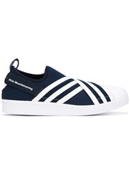 Adidas By White Mountaineering Superstar Slip On Sneakers Men Cotton Rubber 9 Blue