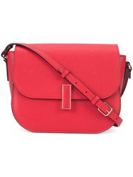 Valextra Fold Over Closure Crossbody Bag Red