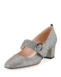 Tartt Sparkly Mary Jane Pump Black Silver Sjp By Sarah Jessica Parker