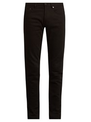 Givenchy Star Embroidered Slim Leg Jeans Black