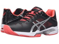 Asics Gel Solution Speed 3 Clay Black Silver Diva Pink Women's Tennis Shoes