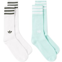Adidas Solid Crew Sock 2 Pack White