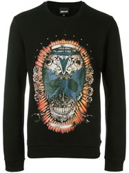 Just Cavalli Skull Print Sweatshirt Black