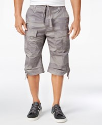 Sean John Men's Camo Print Flight Shorts Grapeleaf