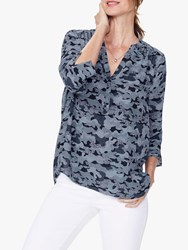 Nydj The Perfect Blouse Hamilton Camo