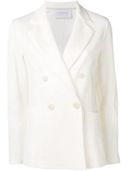 Harris Wharf London Double Breasted Jacket White