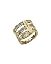Triple Stack Pave Ring Golden Michael Kors