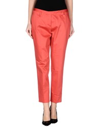 Kiltie Trousers Casual Trousers Women Coral