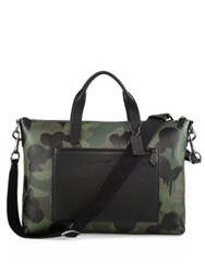 Coach Manhattan Camouflage Printed Pebble Leather Brief