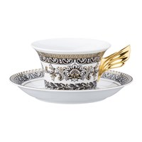 Versace 25Th Anniversary Marqueterie Teacup And Saucer Limited Edition