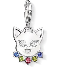 Thomas Sabo Charm Club Silver And Zirconia Cat Charm