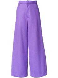 G.V.G.V. High Waisted Palazzo Pants Pink Purple