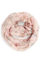 Junior Women's Bp. 'Wildflower' Infinity Scarf Pink Pink Multi