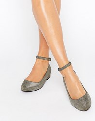 New Look Shimmer Ballet Shoe Gold