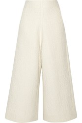 Co Boucle Tweed Culottes White