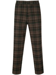 Ymc Hand Me Down Checked Trousers Brown