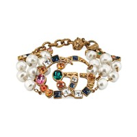 Gucci Crystal Double G Bracelet Gold