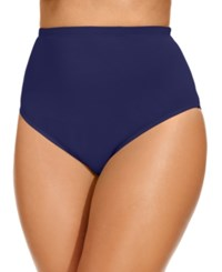 Lablanca La Blanca Plus Size High Waist Swim Brief Bottom Women's Swimsuit Midnight Blue