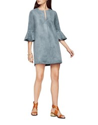 Bcbgmaxazria Catier Faux Suede Dress Light Ash Blue
