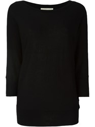 Michael Michael Kors Boat Neck Wide Fit Three Quarter Sleeve Jumper Black