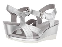 Anne Klein Paprika Silver Silver Synthetic Wedge Shoes