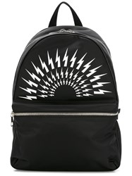 Neil Barrett Lightning Bolt Backpack Black