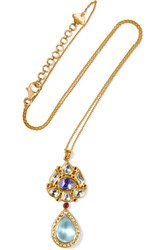 Amrapali 18 Karat Gold Multi Stone Necklace One Size