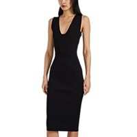 Narciso Rodriguez Compact Knit Fitted Dress Black