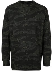 Alexander Wang T By Camouflage Print Sweatshirt Green