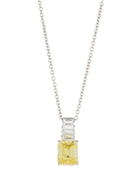 Fantasia Emerald Cut Canary Cz Pendant Necklace