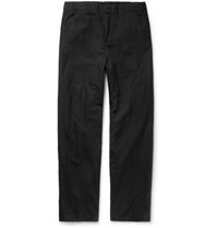 Our Legacy Linen And Cotton Blend Chinos Black