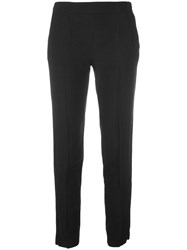 Emporio Armani Cropped Trousers Blue