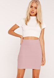 Missguided Bandage Bodycon Mini Skirt Purple Mauve