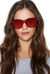 Nasty Gal Ng X Le Specs Runaways Shades Red
