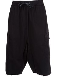 Hudson Drawstring Cargo Shorts Black