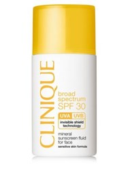 Clinique Broad Spectrum Spf 30 Mineral Sunscreen Fluid For Face 1 Oz. No Color
