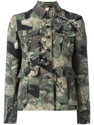 Antonio Marras Camouflage Military Jacket Green