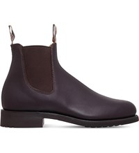 R M Williams Gardener Leather Work Boots Brown