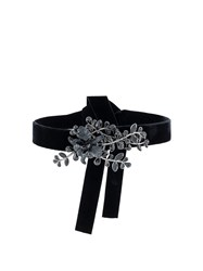 Dsquared2 Flower Crystal Embellished Choker Black