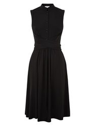 Hobbs Moray Wrap Dress Black