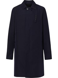 Burberry Bonded Car Coat With Warmer Blue