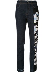 Iceberg Abstract Printed Jeans Blue