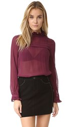 Saloni Emile D Top Dark Plum