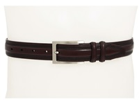 Johnston And Murphy Double Pinked Belt Burgundy Men's Belts
